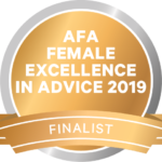 Cooper Wealth Management Award - AFA Female Excellence in Advice 2019 - Felicity Cooper